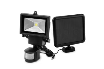 Black COB LED Solar Powered Security Light - C011