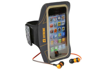 Extreme Arm Band Case Cover & Earphones w/Mic for Samsung Galaxy S4/S3/S4/S2 GRY