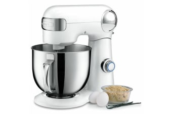 Cuisinart SM-50WA 5.5L Precision Master Stand Mixer Beater w  Whisk Hook White