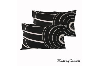 Pair of Quality Standard Pillowcases Murray Linen by Logan & Mason