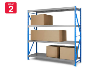 Set of 2 Certa Premium Steel Storage Shelves