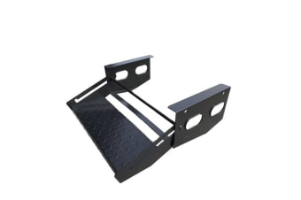 TRA ALL STEEL SINGLE PULL OUT STEP CARAVAN RV OFF ROAD CAMPER TRAILER NEW BLACK