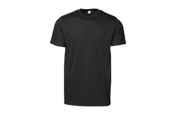 ID Unisex Yes Short Sleeve Fitted Plain Cotton T-Shirt (Black) (M)