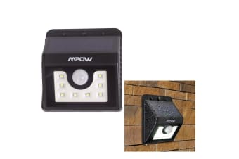 Mpow 8 Led Solar Light Sensor Light Lamp Waterproof Security Patio Path Lighting