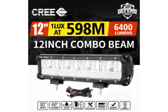 DEFEND 12inch CREE LED Work Light Bar Work Driving Lamp Combo OffRoad 4WD