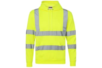 RTY High Visibility Unisex Reflective Hoodie (Pack of 2) (Fluorescent Yellow)