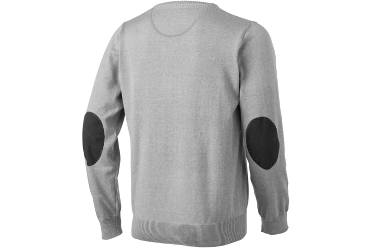 Elevate Mens Spruce V-Neck Jumper (Grey Melange) (M)