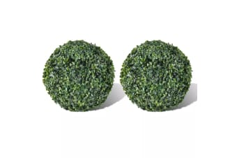 vidaXL Boxwood Ball Artificial Leaf Topiary Ball 27 cm 2 pcs