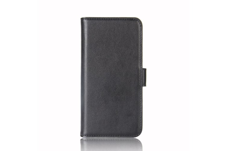 For Samsung Galaxy S10 Case Black Genuine Leather Wallet Cover