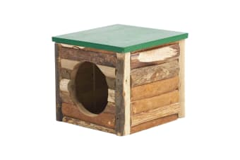 Superpet Link-N-Lodge Natural Timber Pet Hideout Box (Beige/Green) (One Size)