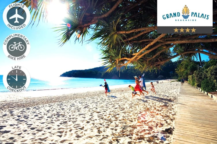 SUNSHINE COAST: 5 Nights Stay at Grand Palais Beachside Resort Including Flights for Two (Departing SYD)