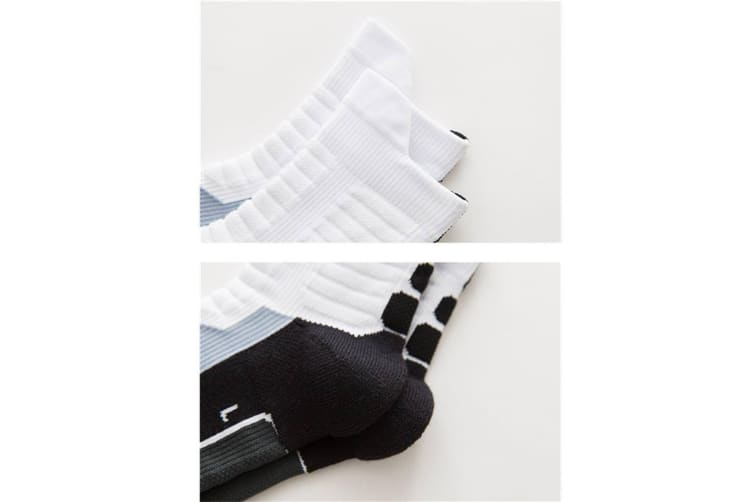 Athletic Casual Style Sports Thick Cotton Breathable Middle Tube Socks White Xl[43-47]