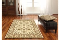 Classic Runner Rug Ivory with Ivory Border