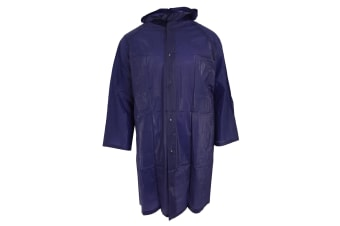 Universal Textiles Unisex Adults Raincoat With Hood (Violet) (One Size)