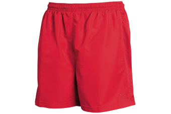 Tombo Teamsport Mens Lined Performance Sports Shorts (Red)