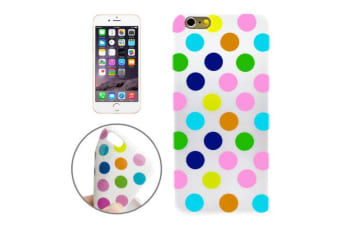 For iPhone 6S 6 Case Rainbow Polka Dot High-Quality Durable Shielding Cover