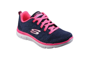 Skechers Childrens Girls Skech Appeal 2.0 High Energy Lace-Up Trainers (Navy/HotPink) (12 Child UK)