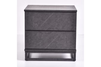 Margo Bedside Table - Grey Stone