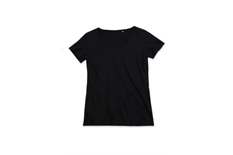 Stedman Womens/Ladies Finest Cotton Tee (Black Opal) (S)