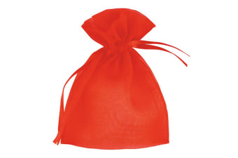 Club Green Small Organza Wedding Pouch (Pack Of 10) (Red) (Small)