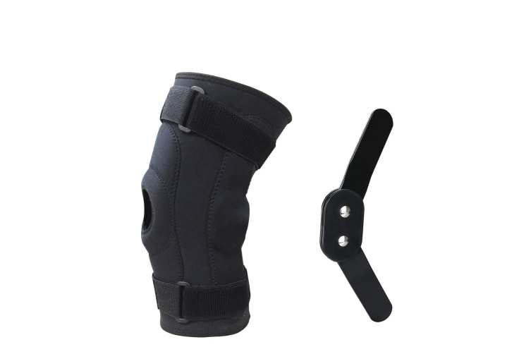 Double Metal Hinged Full Knee Support Brace Knee Protection Regular, Large & XL  -  Large-L