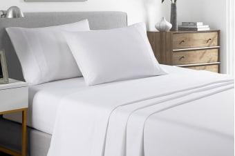 Royal Comfort 2000TC Bamboo Blend Cooling Sheet Set (Queen, White)