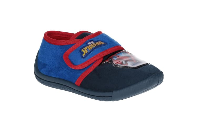 Spider-Man Childrens Boys Touch Fastening Slippers (Black/Blue/Red) (11.5 UK)