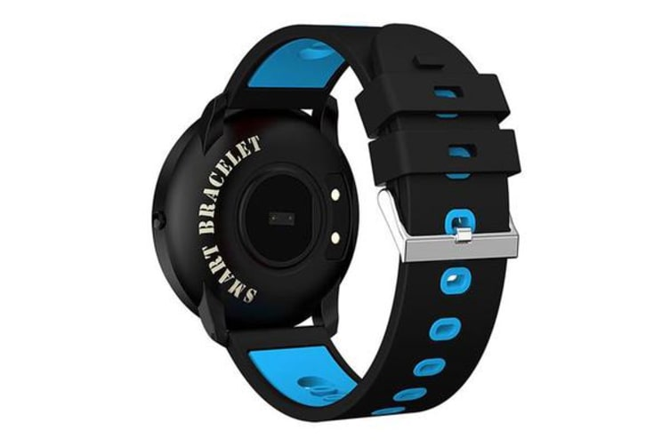 "Bluetooth V4.0 Smart Watch Heart Rate Blood Oxygen 0.96"" Oled - Blue"