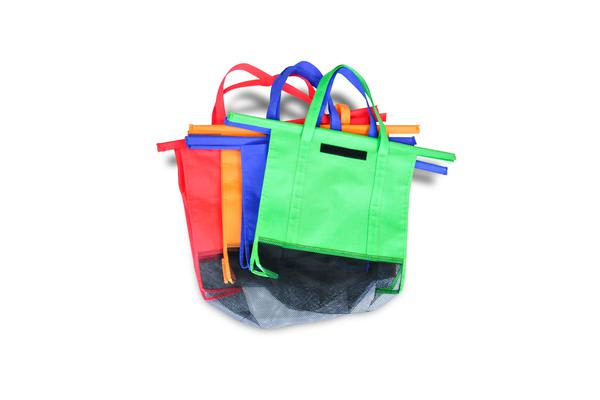 55d4f0db241 4Pcs Reusable Grocery Market Shopping Bags Eco Friendly Trolley Cart Carrier