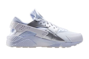 Nike Men's Air Huarache Run Running Shoe (White/Metallic Silver, Size 7.5)
