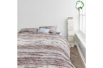 100% Cotton Tell Natural Quilt Cover Set by At Home