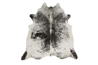 Exquisite Natural Cow Hide Salt & Pepper Black 170x180cm