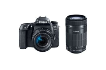 New Canon EOS 77D (18-55mm)(55-250mm) 24MP Digital SLR Camera (FREE DELIVERY + 1 YEAR AU WARRANTY)