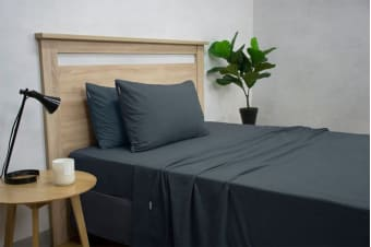 Apartmento Micro Flannel Sheet Set Navy (Single)