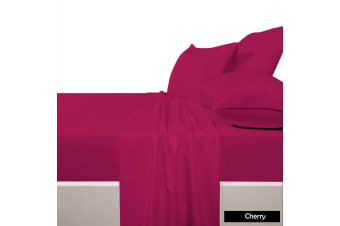 225 TC Polyester Cotton Sheet Set CHERRY - King