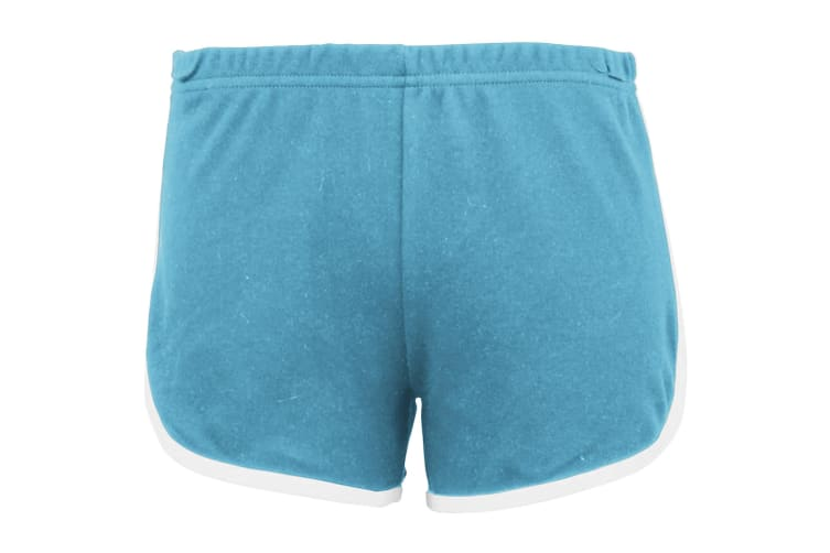 American Apparel Womens/Ladies Cotton Casual/Sports Shorts (Teal / White) (M)
