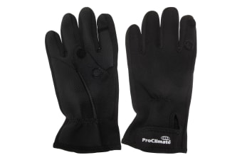 Pro Climate Neoprene Touch Fastening Active Gloves (Black)