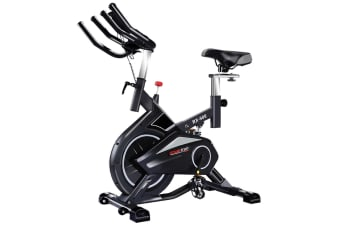 PowerTrain RX-900 Exercise Spin Bike Cardio Cycle - Silver