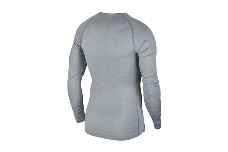 Nike Men's Pro Core Tight Tees (Grey, Size M)