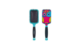 Bifull Owl Paddle Brush For Dogs (Pink) (One Size)