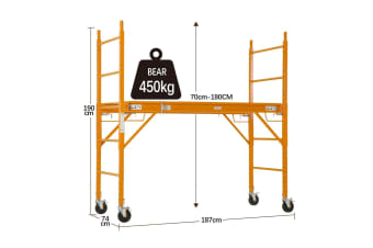 Multipurpose Scaffold Tower Work Platform on Caster Wheel - 450KG Weight Capacity