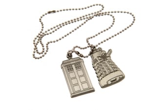 Doctor Who Dog Tags (Pack Of 2) (Silver) (One Size)