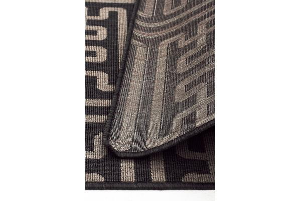 Seville Geo Charcoal Outdoor Rug 160X110cm