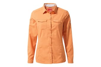 Craghoppers Womens/Ladies NosiLife Adventure II Long Sleeved Shirt (Soft Apricot) (16 UK)