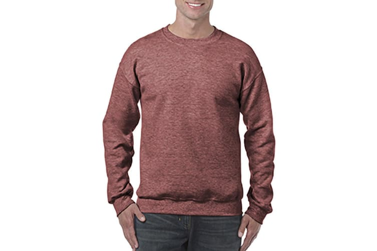 Gildan Heavy Blend Unisex Adult Crewneck Sweatshirt (Heather Sport Dark Maroon) (S)
