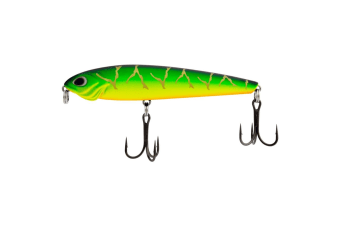 90mm FishArt Bullet Fire Tiger Top Water Fishing Lure - 11.5g Hard Body Lure