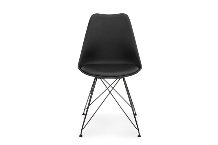 Shangri-La Set of 2 DSR Dining Chairs - Eames Replica (Black/Black)