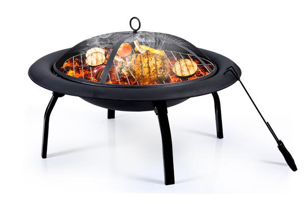 """22"""" Portable Outdoor Fire Pit BBQ Camping Garden Patio Heater Fireplace"""