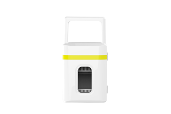 Mini Refrigerator in Vehicle Dormitory Cosmetics Refrigerator  YELLOW