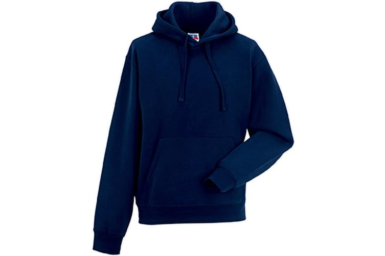 Russell Mens Authentic Hooded Sweatshirt / Hoodie (French Navy) (L)